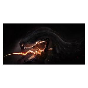 Неформатный постер Dark Souls. Размер: 60 х 30 см